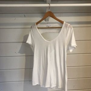 SOCIALITE White tee with open back size medium